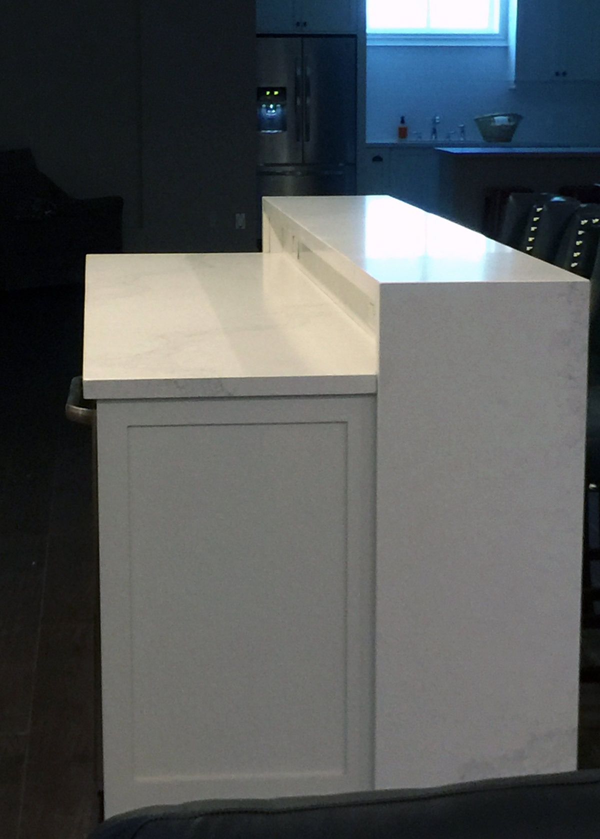 Custom made granite bar